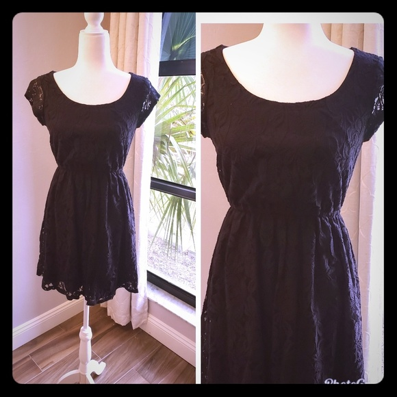 Xhilaration Dresses & Skirts - LBD, black lace with sewn in liner